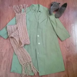 Vintage London Fog Raincoat ☔ Green Coat